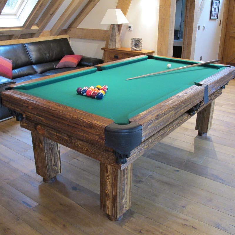 GreenClothRusticPoolTable